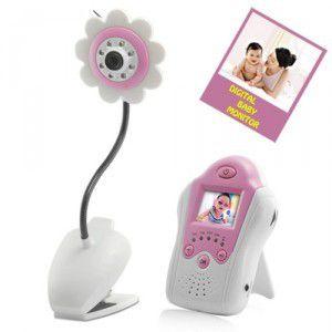 Baby Monitor s kamerou - na výber ružový, modrý