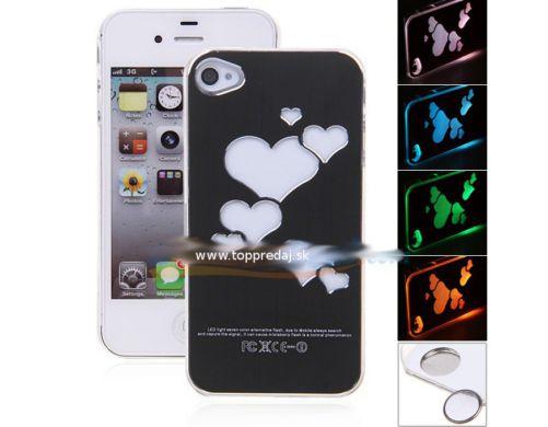 Ochranný LED plastový kryt / púzdro pre iPhone 4