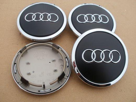 krytky alu diskov Audi (69mm) čierne