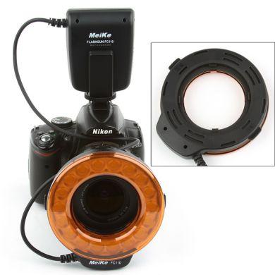 Meike FC-110 Makro kruhovy blesk - Canon, Nikon