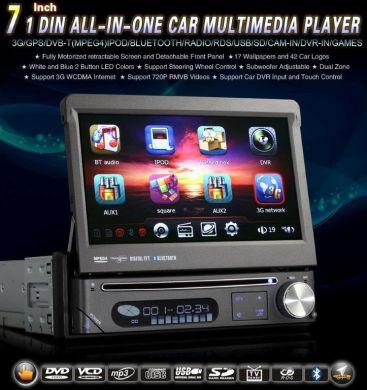 1-DIN AUTORÁDIO S DVD, GPS, TV, ...