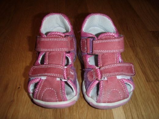 Dievčenské ružové sandáliky ee5032c9760
