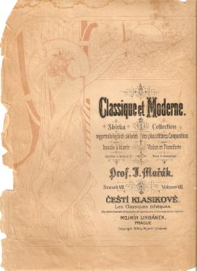 Starozitne Noty Pre Husle 1919