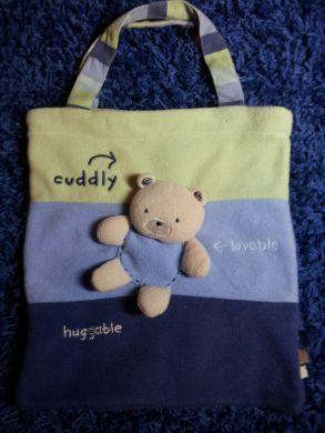 Modrá zelená detská mäkká taška na plienky