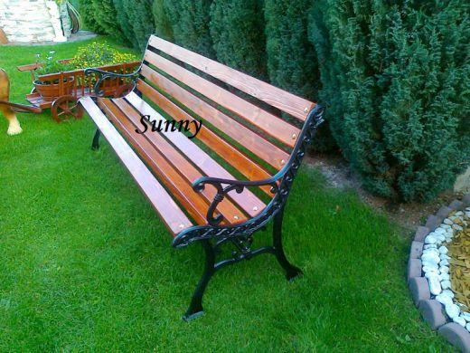 Parková-záhradná lavička Rustikal