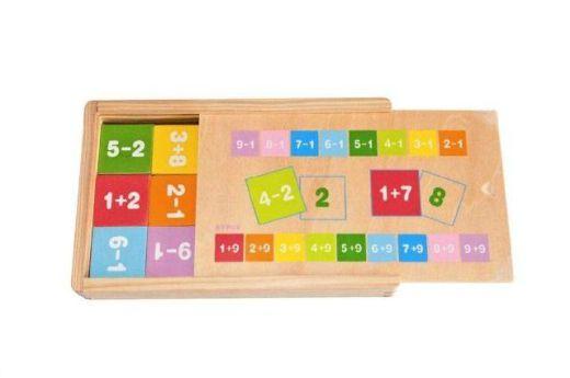Drevené puzzle Sčítanie a odčítanie - NOVÉ 0ca754c38b7