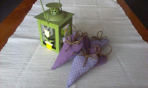 Jarná dekorácia - srdiečka