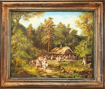 Olejomalba na plátně - dřevěný rám 640x530mm