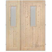 Palubkové dveře dvoukřídlé sklo na obou křídlech