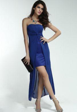 Krásne šaty v modrej aj čiernej farbe