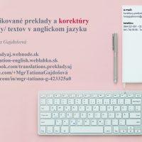 Preklady a opravy textov v anglickom jazyku