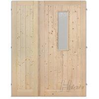 Palubkové dvoukřídlové dveře plné s příčkou